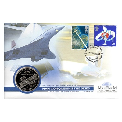 1995 BU 1 Crown - The Jet Travel Commemorative Coin
